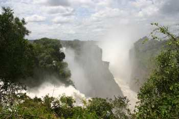 Victoria Falls viewed from the Zimbabwe side