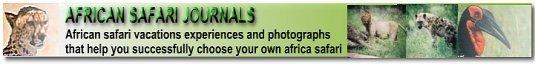African Safari Journals