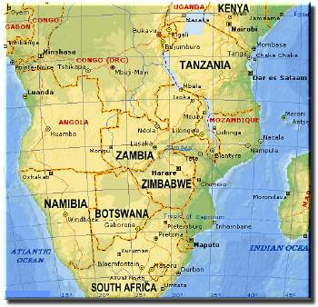 Free African Map And Maps Covering The Whole Africa Subcontinent - Maps of africa