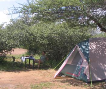 Camping on a self guided safari