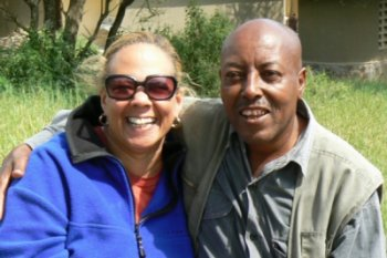 Peggy and head guide Charles