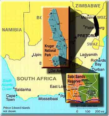 Sabi Sands Map
