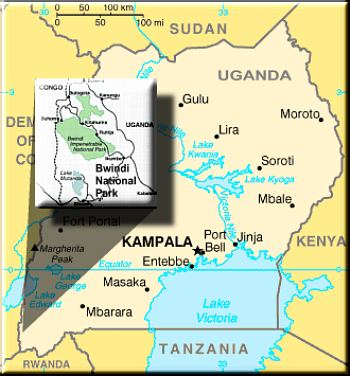maps of uganda. map of uganda in africa.
