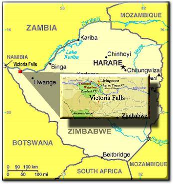 Victoria Falls map