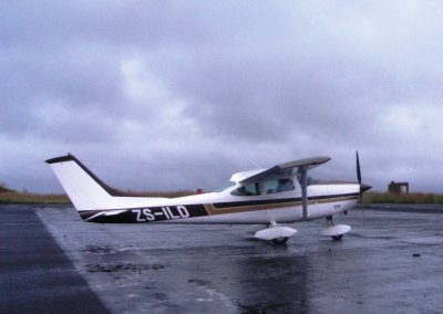 Light aircraft on South Africa runway