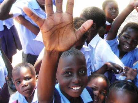 School kids in South Africa