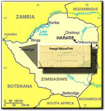 Hwange map