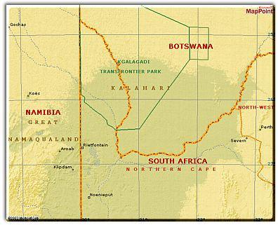 Kalahari Safari Facts Tips And Advice - Kalahari desert map