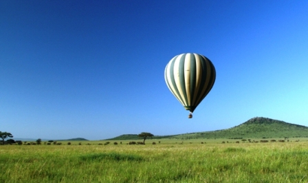 Balloon flight Serengeti