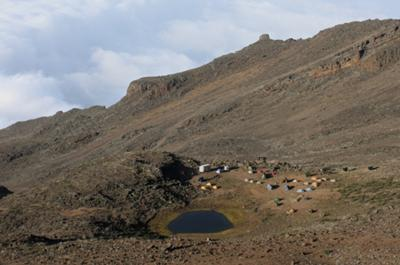 Our camp at Mawenzi tarn camp