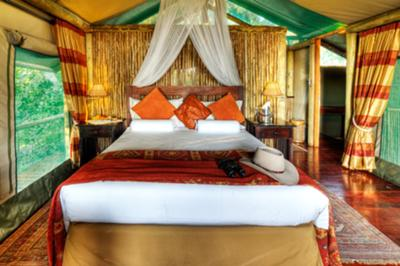 Luxury room at Shinde Island Camp