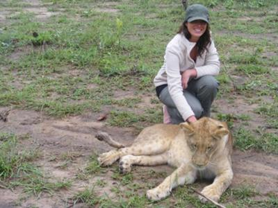 Walking with lions in Zambia