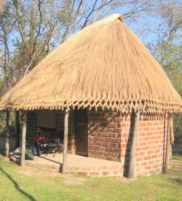 Hut at Crocodile Creek, Livingstone