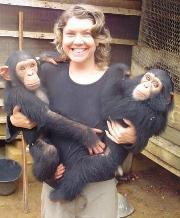 Ally and chimp boys