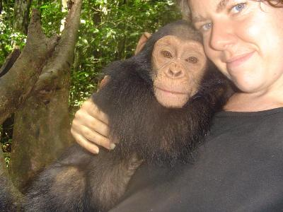 Ally and chimp