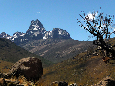 Mt Kenya - Day 2 towards Shipton Camp