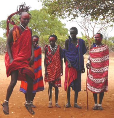 Masai tribe visit - It was very brief but one that I shall always remember. The Masai showed us their traditional dance with chanting and jumping. They showed us around their village and explained a bit about their way of life.