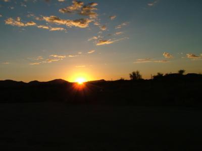 Sunset in the Kalahari