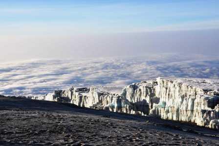 Mt Kilimanjaro glacier