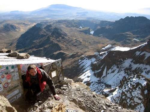 Close to the edge on Mt Kenya