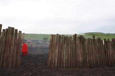 Entry to the Masai village