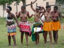 Zulu maidens at wedding